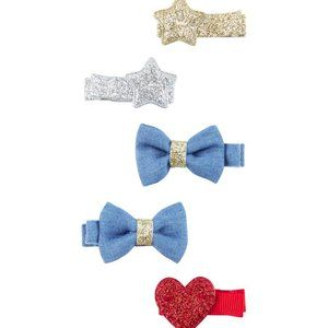 CARTER'S | Baby Girl 6 Pack Hair Bow Clips NWT